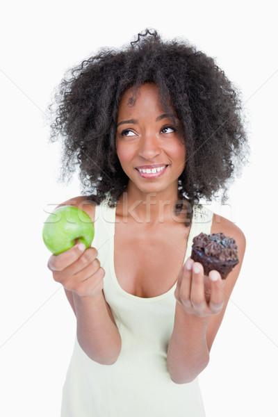 Mulher perguntar ajudar escolher fruto Foto stock © wavebreak_media