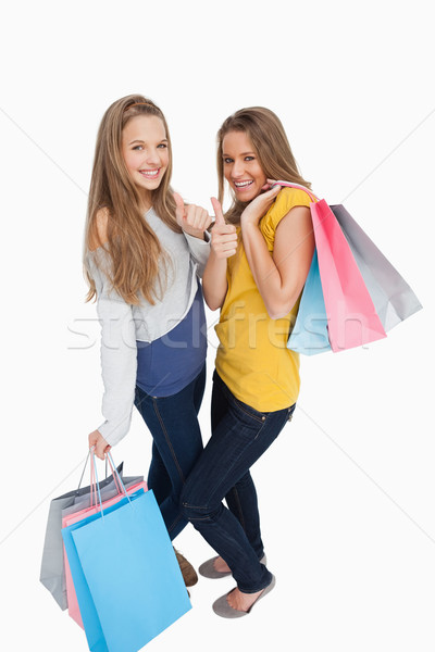 Deux belle jeunes femmes blanche rire Photo stock © wavebreak_media