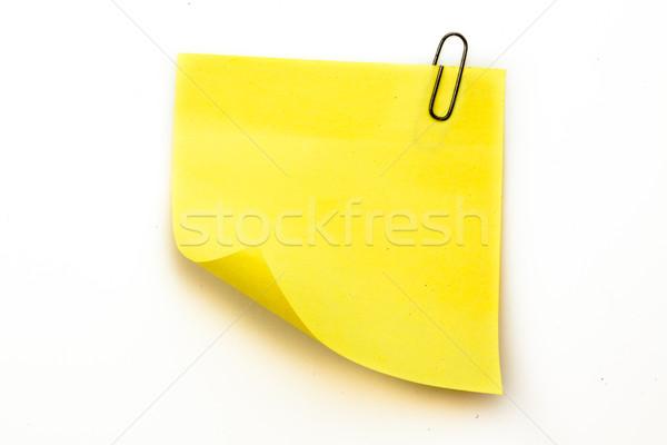 Note collante gris blanche stylo portable Photo stock © wavebreak_media