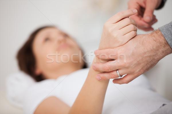 Mano donna manipolata medici ufficio mani Foto d'archivio © wavebreak_media