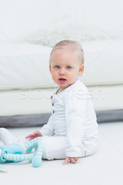 Baby vergadering vloer kamer kid woonkamer Stockfoto © wavebreak_media