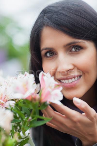 Foto stock: Sorrindo · jardim · de · flores · flores · natureza · jardim · planta