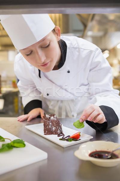 Zdjęcia stock: Kobiet · kucharz · mięty · kuchnia · żywności
