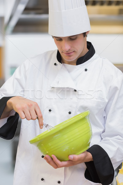 Chef vert bol cuisine mains restaurant Photo stock © wavebreak_media