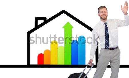 Man permanente achter energie huis Stockfoto © wavebreak_media