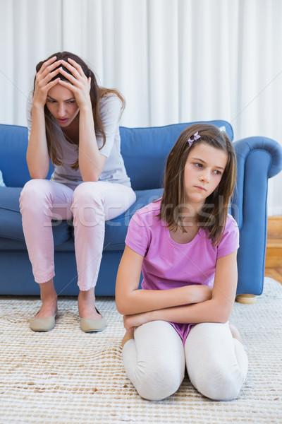 матери дочь аргумент домой гостиной женщину Сток-фото © wavebreak_media