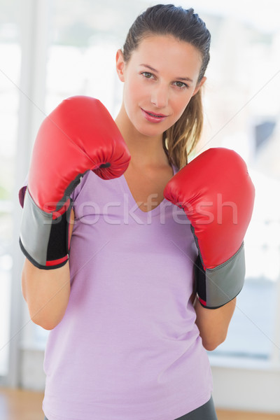 Portret kobiet bokser siłowni ręce Zdjęcia stock © wavebreak_media