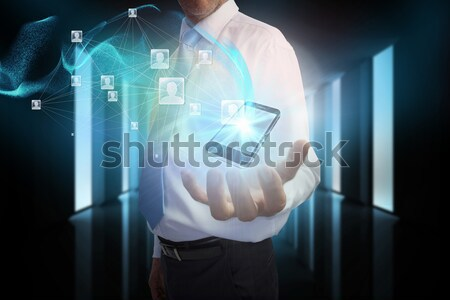 ビジネスマン ファイル 転送 インターフェース デジタル複合 ストックフォト © wavebreak_media