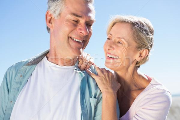 Szczęśliwy starszy para molo człowiek Zdjęcia stock © wavebreak_media