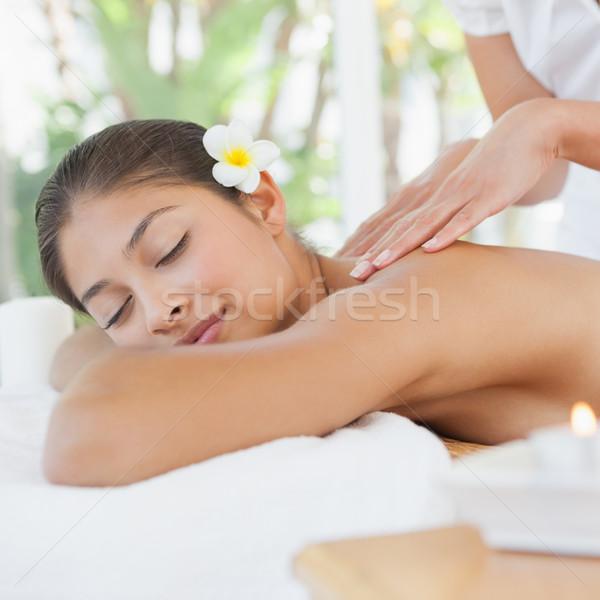 Beautiful brunette enjoying a massage  Stock photo © wavebreak_media