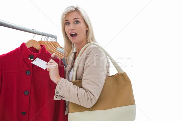 かなり ブロンド 価格 ジャケット 白 ストックフォト © wavebreak_media