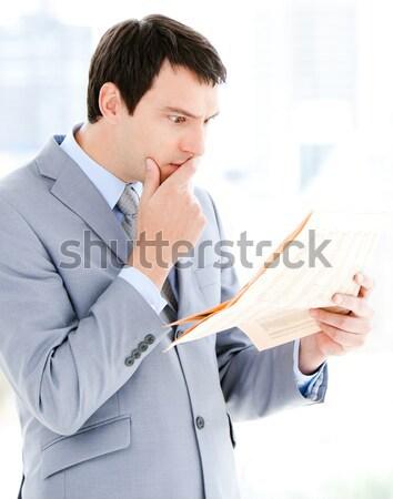 Photo stock: Affaires · écrit · marqueur · blanche · homme