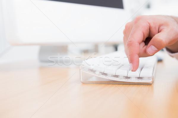 ビジネスマン プッシング キー キーボード オフィス コンピュータ ストックフォト © wavebreak_media