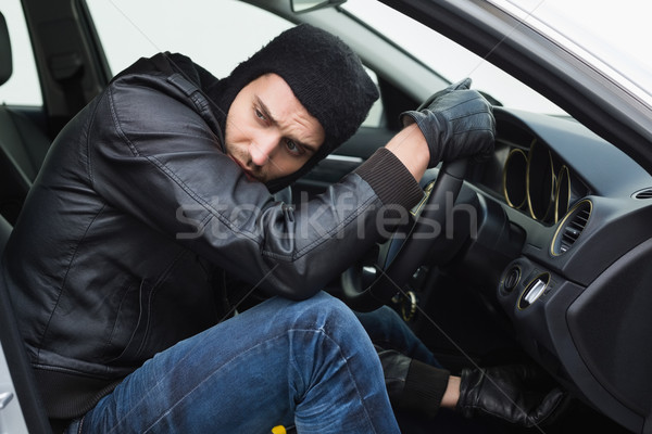 Thief breaking into a car Stock photo © wavebreak_media