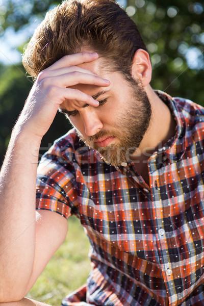 Handsome hipster feeling sad Stock photo © wavebreak_media