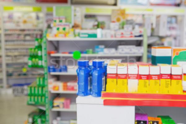 Raflar ilaçlar eczane tıbbi tıp Stok fotoğraf © wavebreak_media
