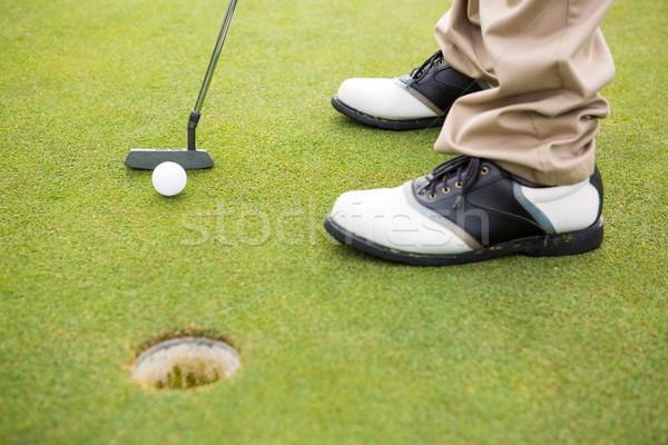 Golfçü golf sahası spor yeşil Stok fotoğraf © wavebreak_media