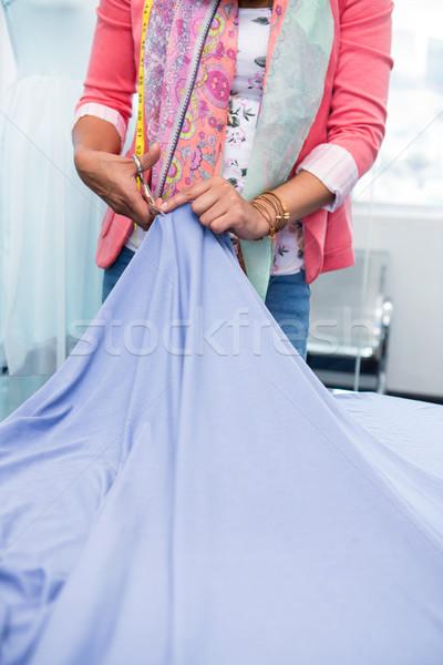 Női divat designer munka középső rész üzlet Stock fotó © wavebreak_media