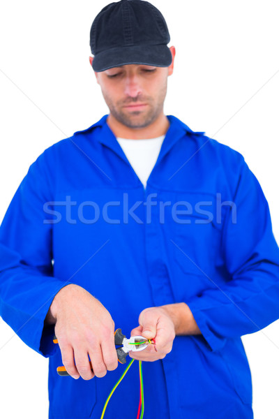 Eletricista arame masculino homem serviço Foto stock © wavebreak_media