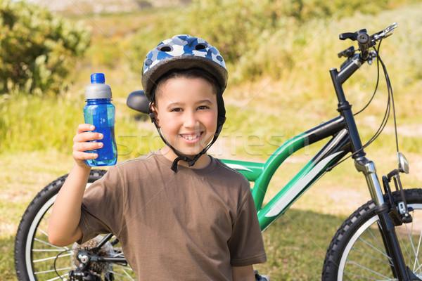 Mały chłopca rowerów dziecko wolności Zdjęcia stock © wavebreak_media