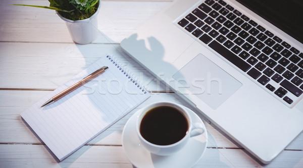 Shot laptop notatnika biurko działalności biuro Zdjęcia stock © wavebreak_media