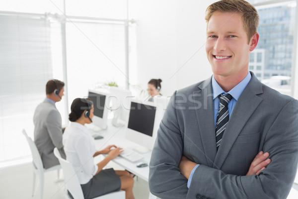 улыбаясь менеджера Постоянный сотрудников за Сток-фото © wavebreak_media