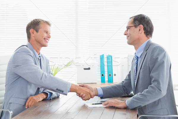 Concluding a contract between two businessmen Stock photo © wavebreak_media
