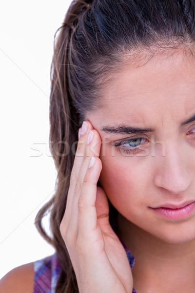 Csinos barna hajú fejfájás fehér szexi női Stock fotó © wavebreak_media