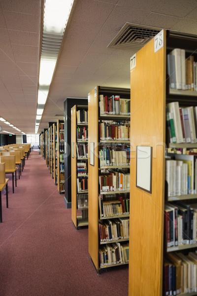 Volumes of books on bookshelf in library Stock photo © wavebreak_media