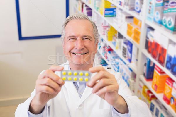 Altos farmacéutico ampolla hospital farmacia Foto stock © wavebreak_media