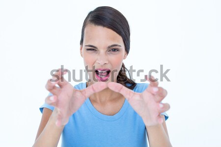 Furious woman with hands up  Stock photo © wavebreak_media
