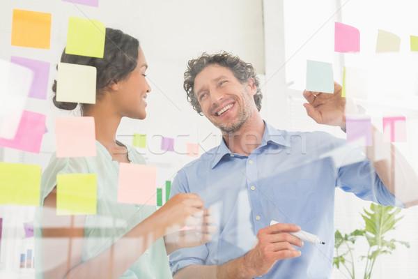 困惑して ビジネスチーム 見える ポスト 壁 オフィス ストックフォト © wavebreak_media