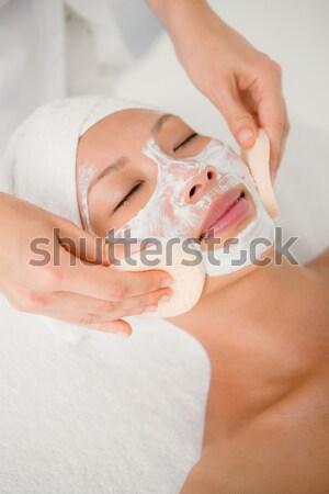 Pretty woman enjoying suction massage Stock photo © wavebreak_media