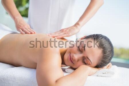 Oído tratamiento terapia habitación mujer Foto stock © wavebreak_media