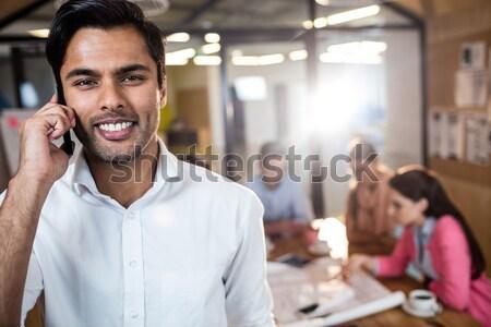 Sorridere cameriera ritratto coffee shop business Foto d'archivio © wavebreak_media