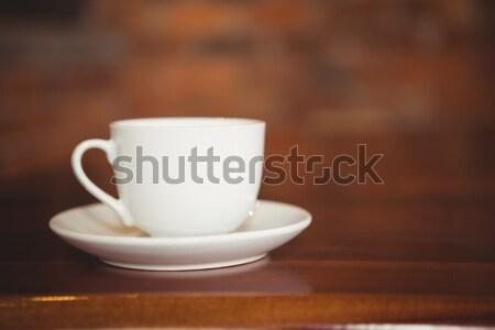 Csésze csészealj pult kávéház kávé forró Stock fotó © wavebreak_media