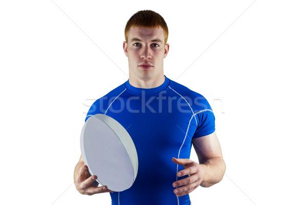 Rugby jogador retrato branco Foto stock © wavebreak_media