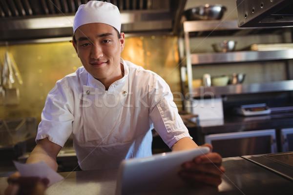 Chef digital comprimido ordem lista Foto stock © wavebreak_media