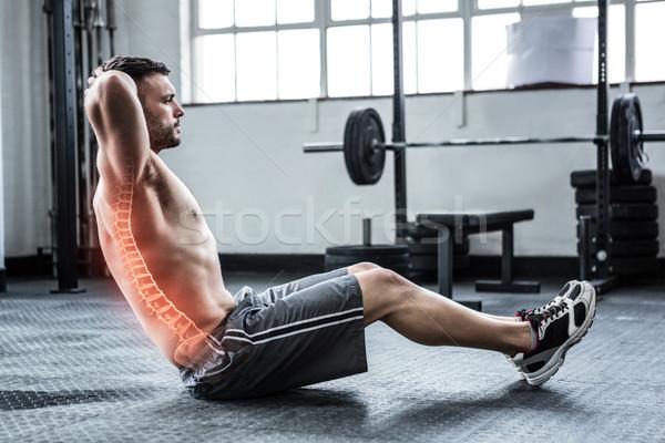 Colonne vertébrale homme gymnase composite numérique fitness Photo stock © wavebreak_media