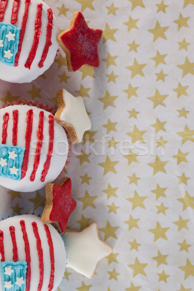 Close-up of decorated cupcakes arranged on table Stock photo © wavebreak_media