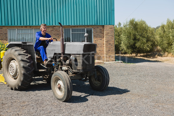 özenli işçi sürücü traktör iş Stok fotoğraf © wavebreak_media