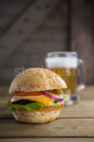 Close-up of burger Stock photo © wavebreak_media