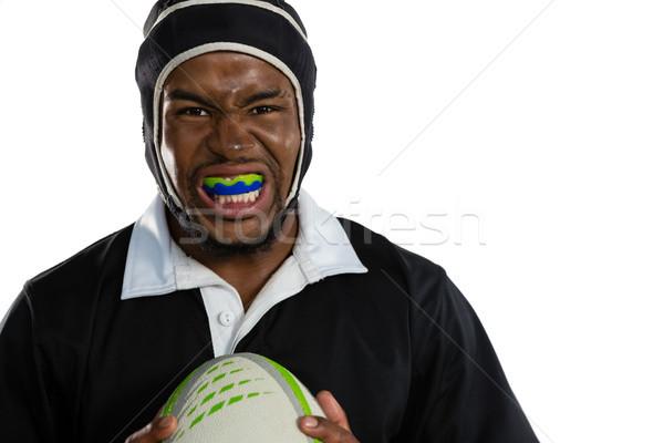 Retrato masculino rugby jogador branco Foto stock © wavebreak_media
