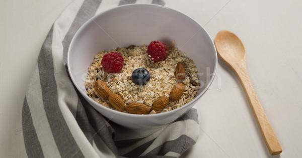 Breakfast cereals forming a smiley face Stock photo © wavebreak_media