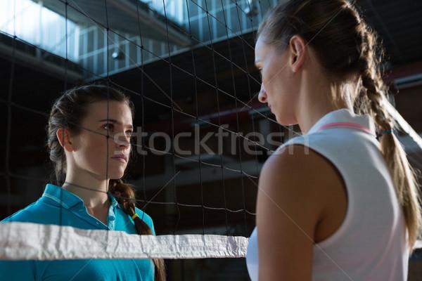 Agressivo feminino voleibol jogadores olhando com Foto stock © wavebreak_media