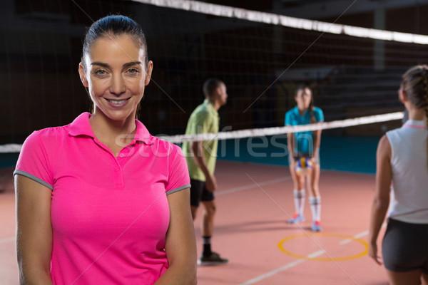 Retrato sorridente voleibol jogador feminino mulher Foto stock © wavebreak_media