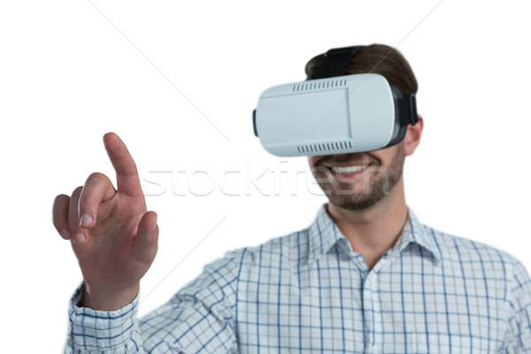 Człowiek faktyczny rzeczywistość zestawu biały Zdjęcia stock © wavebreak_media