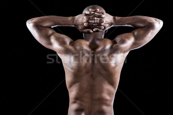 вид сзади мышечный спортсмена рук за Сток-фото © wavebreak_media