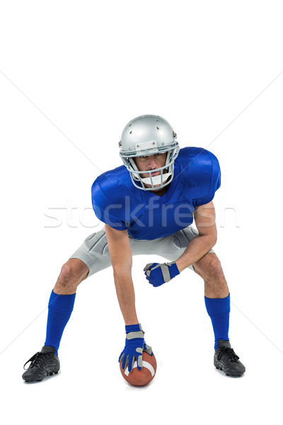 American football player in attack stance Stock photo © wavebreak_media