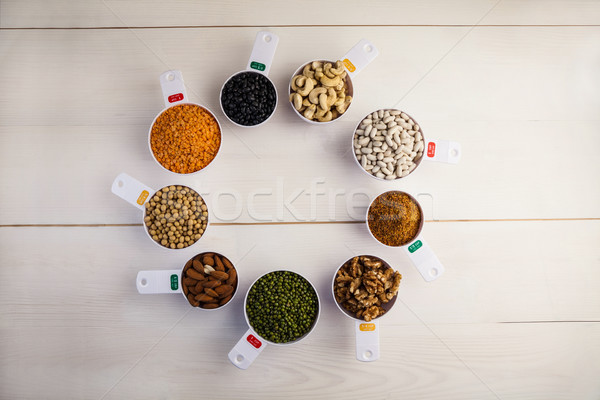 Portion cups of healthy ingredients Stock photo © wavebreak_media